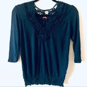 Lace V Neck Shirt